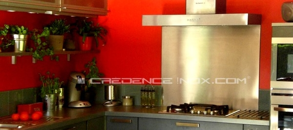Credence Cuisine Rouge Vif