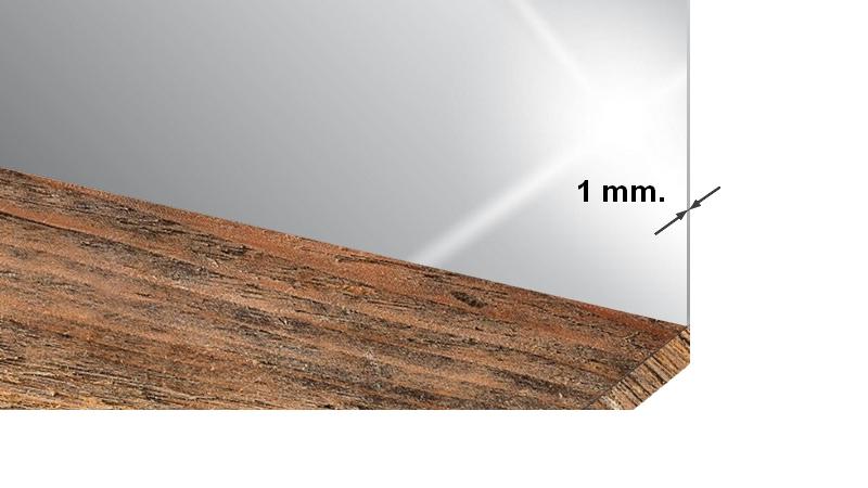 Crédence inox épaisseur 1 millimètre